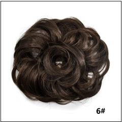 LyricalHair Add-On Deal Messy Hair Up Do Bun Curly Chignon With Elastic Scrunchie Wrap With 1 Box 3D Faux Mink Eyelashes