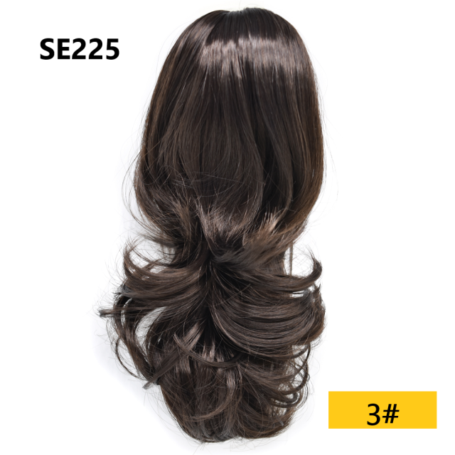 "LyricalHair Wavy Chic Claw Jaw Clip Synthetic Ponytail Flirty-Layered Texture Pony 14"" Hair Extension SE225"