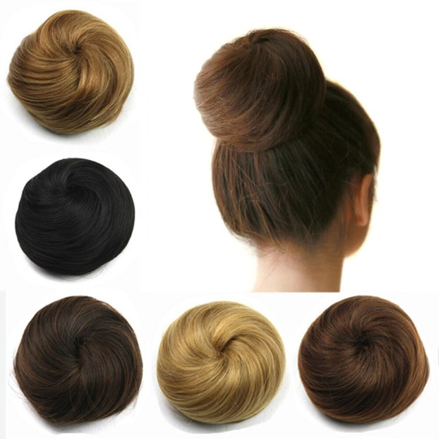 LyricalHair Ladies Human Hair Classic Up Do Bun, Drawstring Elastic Scrunchie Chignon Hair Extension,Add-On Deal With 1 Box 3D Lashes