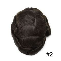 LyricalHair French Lace Mens Hairpieces Toupee, Easy Tape Attached Thin Skin Around Men Hair Systems, Skin Realistic Human Hair Pieces For Men