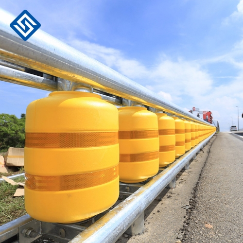 Highway Roller Barrier Traffic safety highway guardrail road barrier foam roller fence crash barrier Rolling guardrail