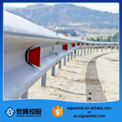 Hot dip tri beam galvanised highway guardrail post spacing