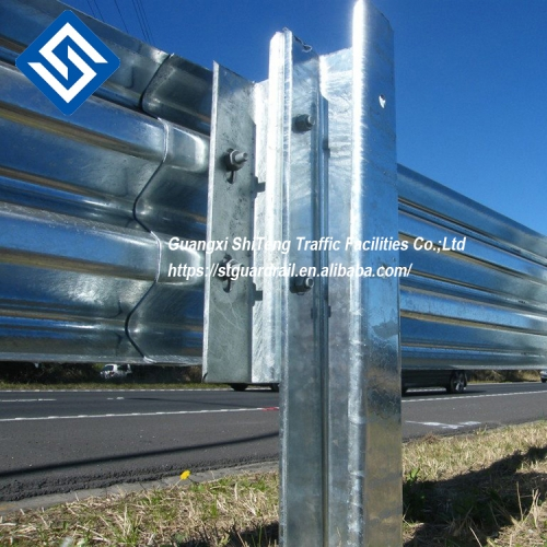 road traffic safe H beam highway guardrail used galvanized steel post