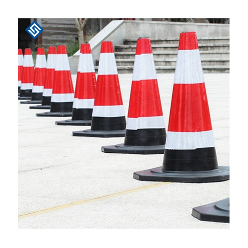 Low Price Pvc Rubber Safety Orange Flexible Reflective Fluorescent Durable Traffic Road Cone