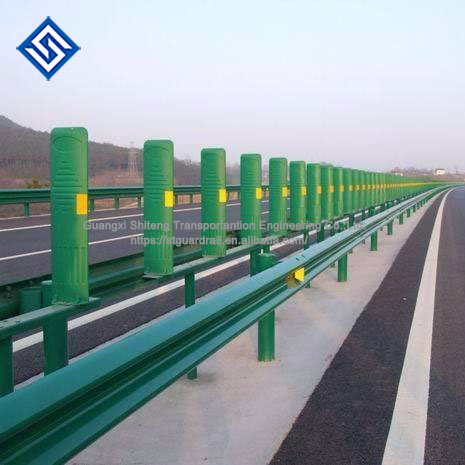 road traffic safe green color anti glare FRP for highway safety