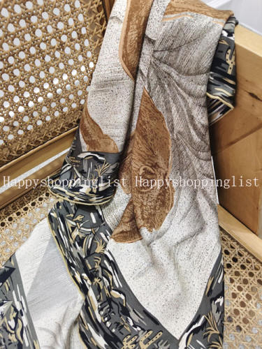 Square 18MM 90cm  twill silk hand Rolled Edges Scarf