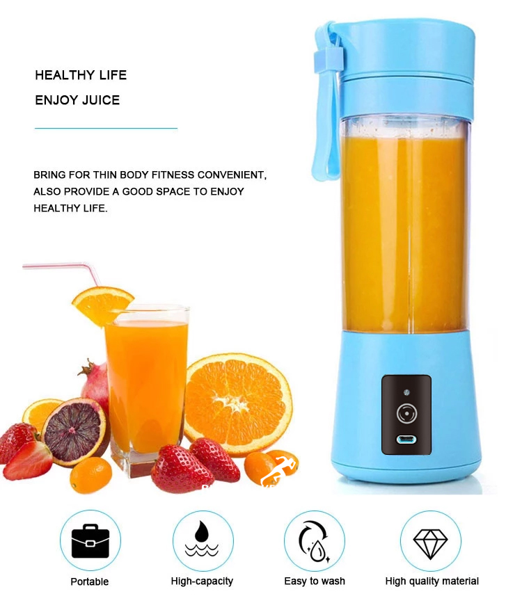 Blender 380Ml Sport Travel Fruit USB Rechargeable Manufactury