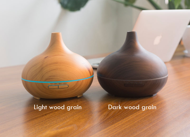 Led Home Scent Fragrance Air Ultrasonic 300ml usb Essential Oil Wood Diffuser with custom logo