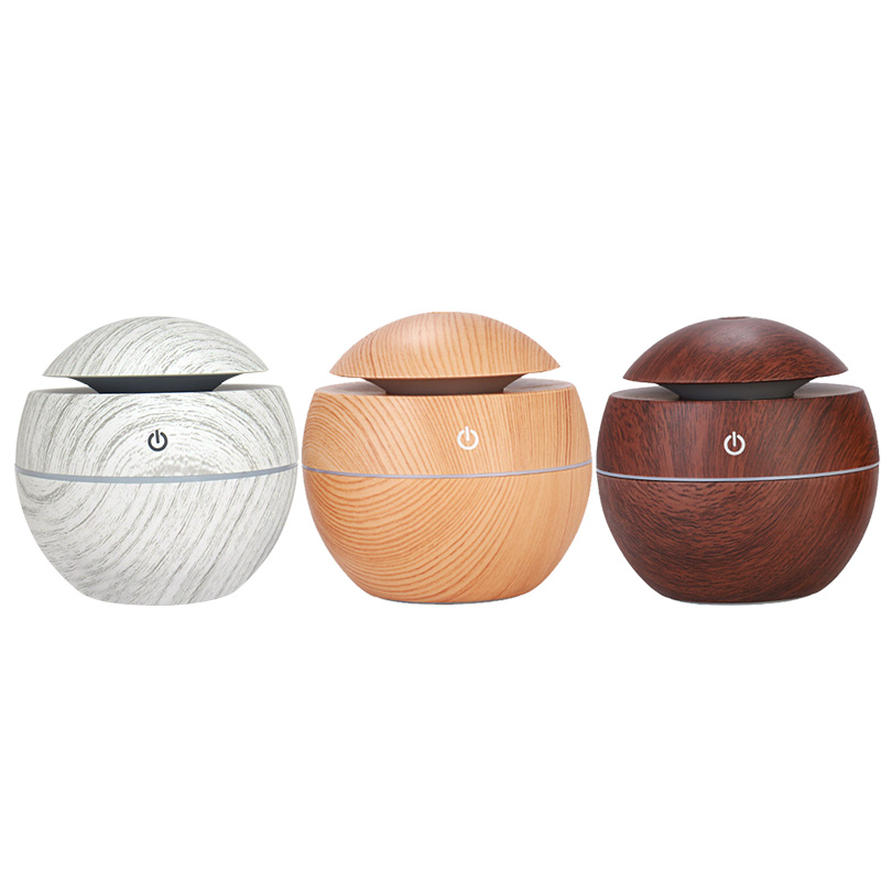 Wood Grain Bamboo Mini Round Shape plug in diffusers