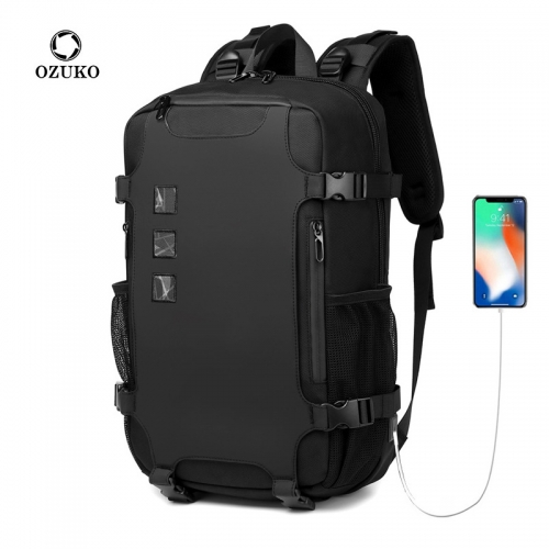 Ozuko 9388 Mochila Escolar Masculina Impermeable Custom Bagpack Waterproof School Student Small Backpack Man