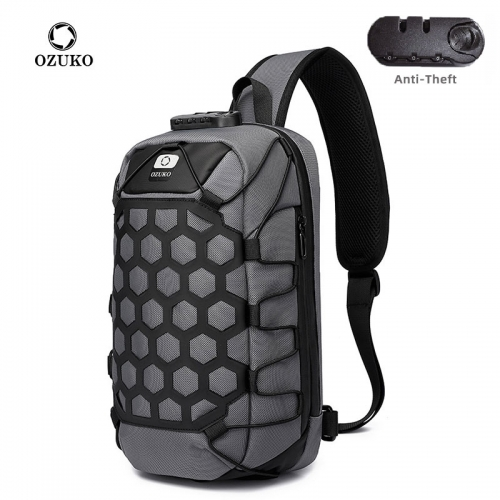 Ozuko 9357 Small Tactical Sling Bag For Men Nylon Designer Shoulder Bag Custom Phone Men Mini Crossbody Bag Chest
