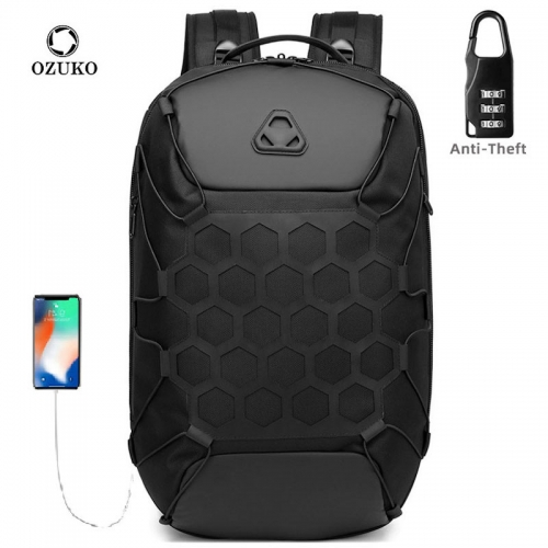 Ozuko 9348 Waterproof Laptop Backpack Bag For Men Sports Golf Travel Bag Luggage For Women Backwoods Small Backpack Purse