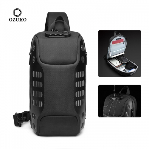 Ozuko 9339 Fashion Men Sling Bag Sale Phone Luxury Mini Crossbody Bag Small Messenger Bag Crossbody For Men