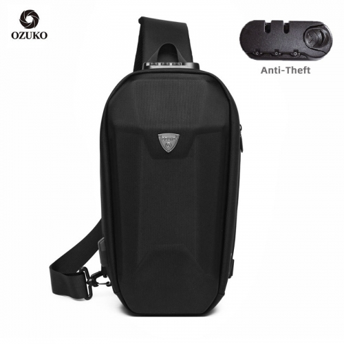 Ozuko 9321 Sublimation Custom Small Messenger Bag Fashion Tactical Sling Bag Shoulder Black Cellphone Mens Crossbody Bag