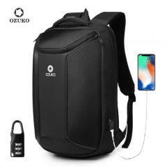 Ozuko 9318 Mochila Antirrobo Personalizadas Usb Japanese Wholesale School Bags Waterproof Boys Camera Anti Theft Backpack