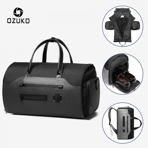Ozuko 9288 Luxury Travel Luggage Bags Set Designer Luggage Travel Bags For Men Travel Spend The Night Duffle Bag Custom
