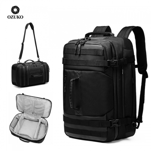 Ozuko 9242 Large Capacity Waterproof Luggage Travel Bags Weekend Desiger Duffle Bag Custom Camping Men Gym Backpack