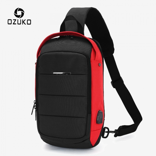 Ozuko 9068 Handphone Custom Sling Bag Luxury Nylon Men Shoulder Bag 2021 Fashion Designer Crossbody Bags 2021