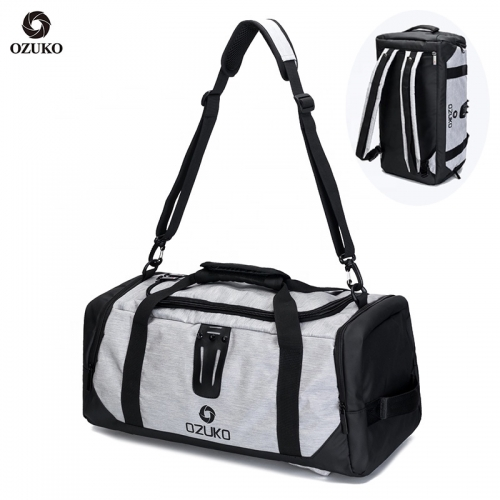 Ozuko 9005 Sublimation Spend The Night Gym Duffle Bag Football Backpack Golf Sneaker Men Travel Bag