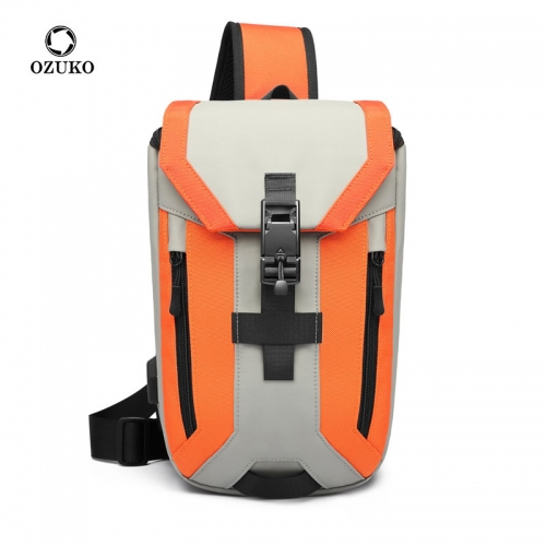 Ozuko 9334 Nylon Big Custom Shoulder Bag Anti Theft Tactical Sling Bag Sale Phone 2021 Mens Crossbody Bag
