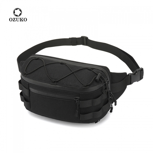 Ozuko 9340 Wholesale Pillow Custom Waist Bag Luxury Designers Fanny Pack Custom Print Bumbag Mini Men Waist Bag