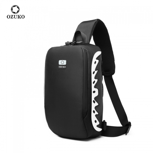 Ozuko 9281 Men Shoulder Bag Anti-theft Crossbody Male Messenger Bags Fashion Reflective Sling Bag