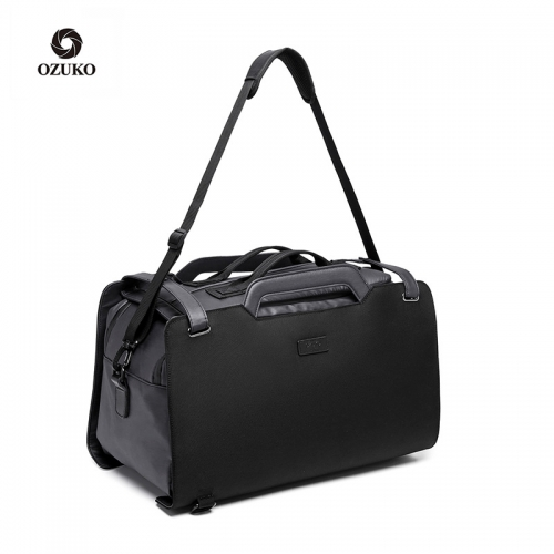 Ozuko 9285 New Anti Theft Backpack Tote Shoulder Outdoor Waterproof Sports Duffle Bags For Men Storage Travelling Bag