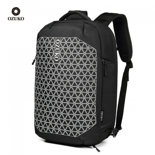 Ozuko 9273 New Usb Backpack School Manufacturers Smart Luggage Bag Travel College Bags For Men
