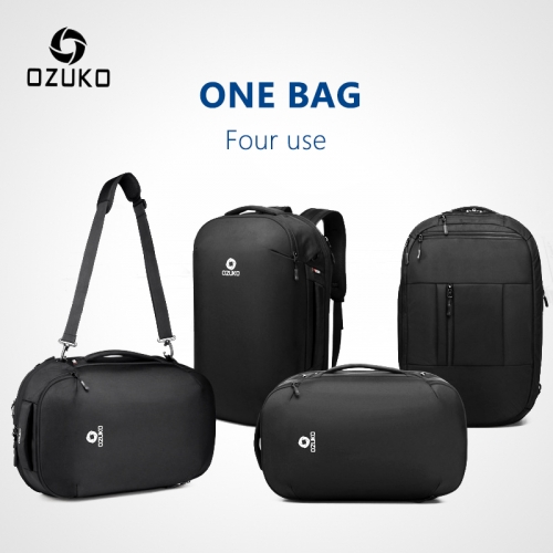 Ozuko 9216 New Shoe Bags Travel Logo Lightweight Backpack Men Water Proof Custom Laptop Bag
