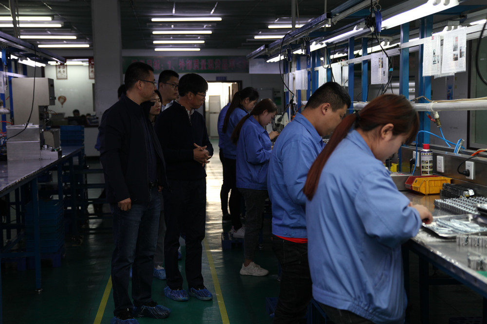 Korean customers visit our factory