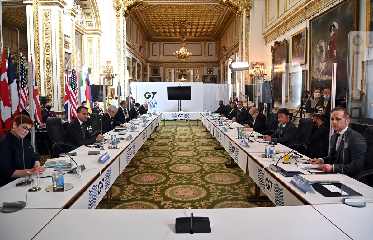 China major talking point at London G7 gathering