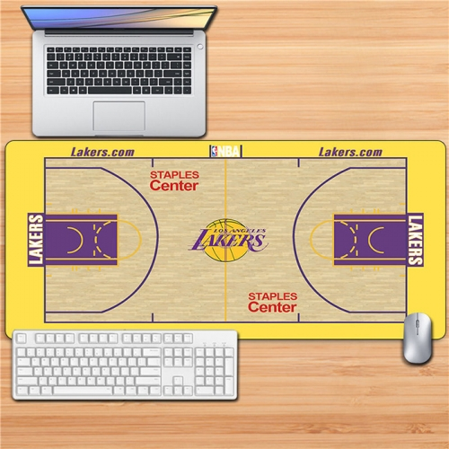 Basketball Arena Design Large Gaming Mouse Pad Keyboard Mat Desk Pad Water-Resistant,Non-Slip Base,for Baksetball Fans Gifts