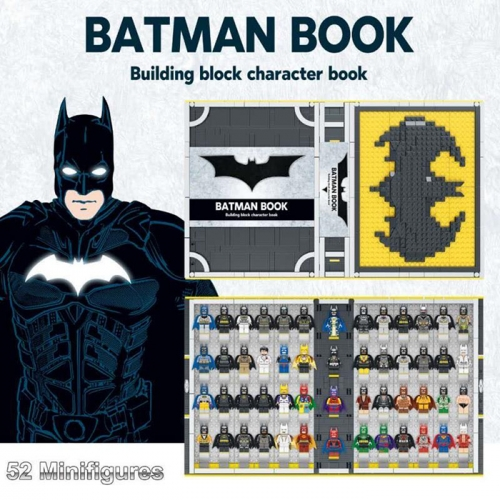 Batman Building Kit Book 52 Minifigures LED Lamp 2420pcs