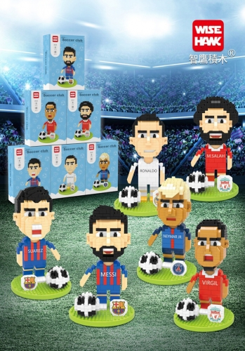Soccer Star Building Kit Messi Ronaldo Sports Toy Gift
