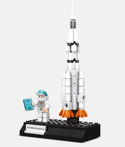 Universe Building Kit Rocket Satellite Shuttle Lunar Rover Kids Toy Gift Spaceman